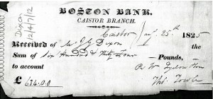 Boston Bank 1825 Archives198